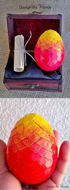 Fire Dragon Red Dragon Egg Geek Gift Set, Dragon Egg 3 1/2 in Fantasy Cosplay…