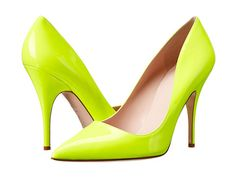 Kate Spade New York Licorice Yellow Flouro Patent - 6pm.com