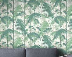 Naadloze Zelf Klevende Jungle Palm Patroon Behang   Verwisselbare Vintage  Muur Stickers   Jungle Palm Muur