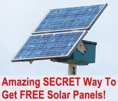 Amazing Secret Way To Get FREE Solar Panels
