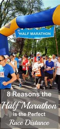 In my opintion, the half marathon is the perfect race distance! Here are 8 reasons why, plus a workout that will help you reach your goals. #running #halfmarathon #runningtips via @coachdebbieruns