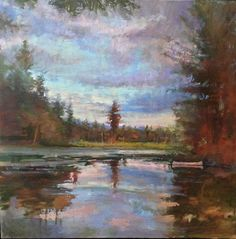 Michael Doyle, North Country Silence, oil on canvas, 37 x 37 inches - Somerville Manning Gallery