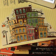 """Páči sa mi to: 16, komentáre: 1 – Dominika Imrichová (@ms_domca) na Instagrame: """"🍂🍁 #journal #journaling #journaladdict #creativejournaling #doodle #creative #art #creativeart…"""" My Journal, Koi, Creative Art, Journaling, Doodles, Caro Diario, Donut Tower, Doodle, Zentangle"""