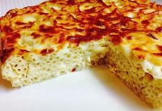 TUANA MUTFAK: FIRINDA MAKARNA Baked Spaghetti Pie, Turkish Kitchen, Basil Pesto, Pasta Bake, Quiche, Banana Bread, Macaroni And Cheese, Pizza, Baking