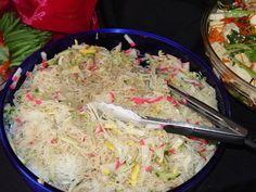 somen (thin japanese noodles - served cold) salad