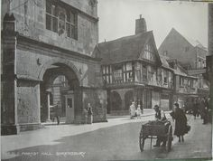 Shrewsbury in the early twentieth century Old Photographs, Old Buildings, Paris Travel, Old Town, Old Things, England, Street View, Europe, Posters
