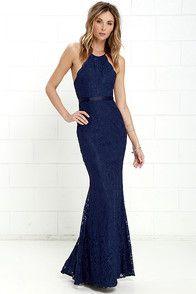 Glamorous Royal Blue Lace Prom Dress,Halter Evening Dress,Floor Length Party Dress on Luulla Royal Blue Prom Dresses, Blue Bridesmaid Dresses, Homecoming Dresses, Bridesmaids, Casual Bridesmaid, Graduation Dresses, Dress Prom, Marine Uniform, Strapless Dress Formal