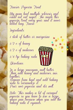 Tracie's Popcorn Treat --from the Delilah, Radio Show Host , Newsletter