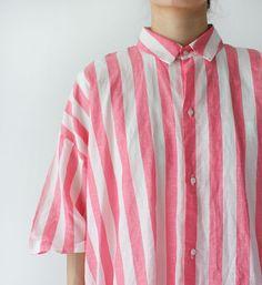 VC-1327 draps en coton chemise rayée - Veritecoeur, CHEMISES - Veritecoeur (verite cool)