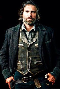 "Anson Mount as Cullen Bohannon in ""Hell on Wheels"" Los Primates, Westerns, Anson Mount, Hell On Wheels, Sexy Beard, Western Movies, Le Far West, Pretty Men, Models"
