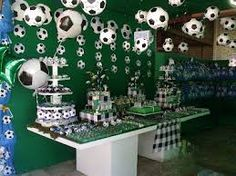 Resultado de imagem para aniversario tema futebol decoração