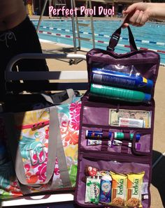 Who's ready for the pool? Grab our lightweight and versatile Timeless Beauty Bag and make a splash! www.mythirtyone.com/rebeccawedekemper