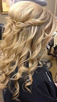 Updo and Half Up Wedding Long Hair