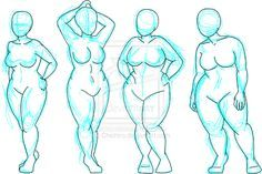 "Plus-size Croquis by ~Chichiro on deviantART  ""These are not for free use. They are not free bases. Please do not treat them as such.""  Corsetra asks ""then why you put them in internet?"""