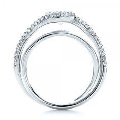Custom Split Shank Pave Diamond Engagement Ring - 100885 | Joseph Jewelry Seattle Bellevue