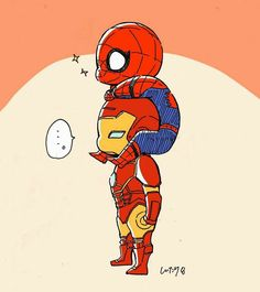 spidey and iron man Marvel Avengers, Memes Marvel, Marvel Fan Art, Marvel Funny, Spiderman Art, Iron Man Spiderman, Avengers Wallpaper, Tom Holland, Marvel Cinematic Universe