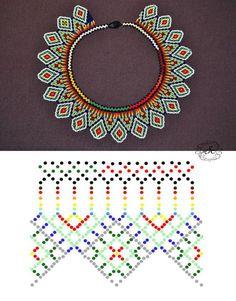 Diy Necklace Patterns, Beaded Jewelry Patterns, Beading Patterns, Bead Jewellery, Seed Bead Jewelry, Bead Loom Bracelets, Beaded Crafts, Bead Crochet, Beading Tutorials