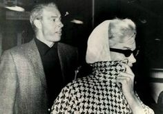 March 1961: Marilyn and Joe return to New York after holidaying in Florida.