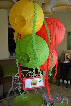 Hamburger Themed 3rd Birthday Party details