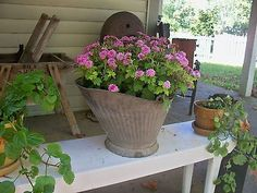 Image result for primitive garden containers