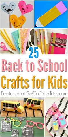 Are you a teacher or daycare provider looking for a back-to-school craft for your students? Then check out these 25 Easy Back To School Crafts that are perfect for preschool and elementary school students, including toddlers. Back To School Crafts For Kids, Back To School Art, Back To School Activities, Easy Crafts For Kids, Toddler Crafts, School Fun, Projects For Kids, Activities For Kids, School Ideas