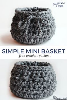 Make this Simple Crochet Basket Pattern today with this FREE crochet pattern! Find this pattern and many more FREE ones at Rescued Paw Designs.