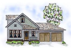 House Plan 56507   Bungalow Country Farmhouse Plan with 1538 Sq. Ft., 3 Bedrooms, 3 Bathrooms, 2 Car Garage at family home plans