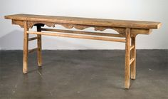 Antique Chinese Elm Console Table | From a unique collection of antique and modern console tables at https://www.1stdibs.com/furniture/tables/console-tables/
