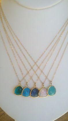 spring 2012 s dot jewelry designs    glass drop necklaces!      www.sdotjewelry.etsy.com