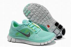 Nike Free 5.0 Gray Jade Gary Womens Running Shoes