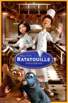 Ratatoulle (Disney Pixar Production) a movie with all the right ingredients, action, food, love, mice, and the atmosphere of Paris!