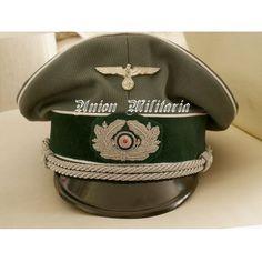 High Quality WW2 German Heer Infantry Officer Visor Cap