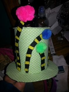 "Made my girl(s) this truffalus tree hat for ""crazy hat day"" at school to celebrate dr Seuss' 110th birthday week!! :)"