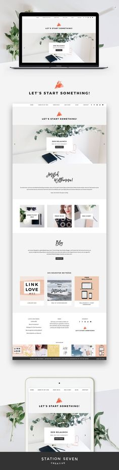 Totally in love with Let's Start Something's cool yet casual site running on Station Seven's Monstera WordPress theme!