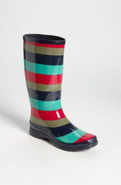 Splendid 'Raindrop' Rain Boot  Nordstrom  I think these would be so cute with a classic tan trench coat and a navy brelly
