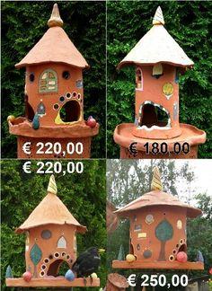 How To Make Paint, Garden Paths, Bird Houses, Garden Furniture, Bird Feeders, Terracotta, Sculptures, Clay, Outdoor Decor