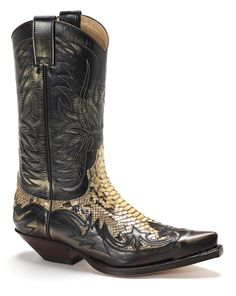 Sendra SE3241SANT Men's Python Mens Snakeskin Boots, Mens Shoes Boots, Mens Boots Fashion, Leather Fashion, Leather Boots, Shoe Boots, Men's Boots, Leather Jackets, High Heel Cowboy Boots