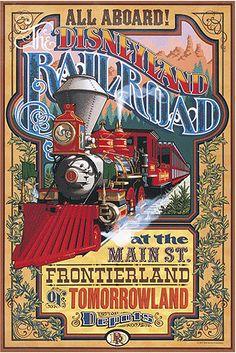 Vintage Disney Ride Poster: Disneyland Railroad