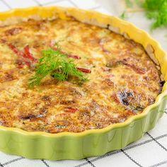 Juustoinen tonnikalapiiras Big And Small, Quiche, Food And Drink, Treats, Baking, Dinner, Breakfast, Recipes, Koti