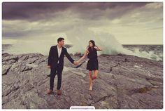 Engagement Photo at Ocean Cliff in Newport, RI