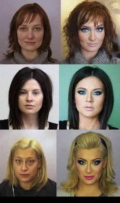 With And Without Makeup... granted these aren't celebrities but look at the difference they were all beautiful without it