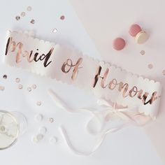 Make Your Maid Of Honour Feel Extra Special With This Stunning Rose Gold Hen Party Sash