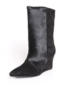Choies Pony Wedge Point Ankle Boots