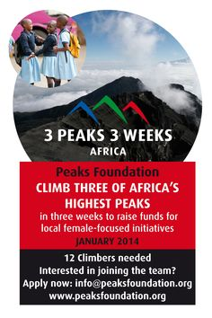 Peaks is looking for 12 ladies. Be the change you wish to see in the world! www.peaksfoundation.org