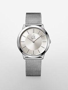 minimal stainless steel mesh watch | Calvin Klein