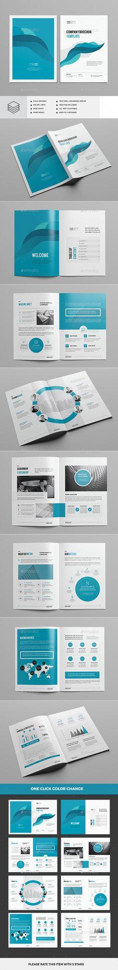 Clean & Modern Multipurpose Brochure — InDesign INDD #brochure #unique • Download ➝ https://graphicriver.net/item/clean-modern-multipurpose-brochure/19411286?ref=pxcr