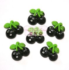 Black+Cherry+Cabochons+with+Rhinestones++Set+by+wholesaleflowers,+$1.50