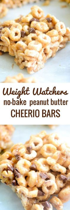 Weight Watchers No-Bake Peanut Butter Cheerio Bars