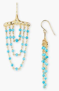 Free shipping and returns on Argento Vivo Turquoise Chandelier Earrings at Nordstrom.com. Beautiful turquoise and delicate vermeil lend paradise appeal to lively, tiered chandelier earrings.
