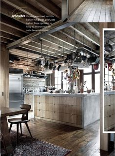My kind of kitchen!!!    Industrial meets country kitchen. What do you think?